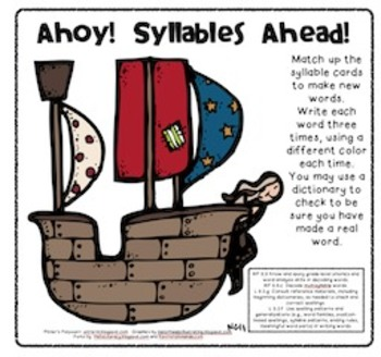 A Pirate's Treasure of Multisyllable Long Vowel Sound Words