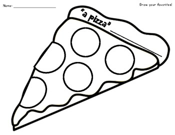 A Pizza (A piece of ME) Back To School Pizza Activity