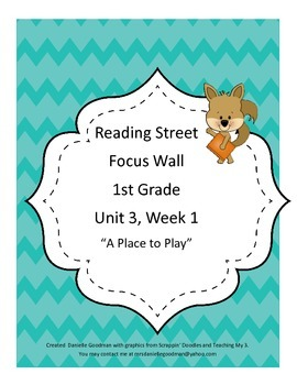 A Place to Play Focus Wall Posters 1st Grade Reading Street CC 2013