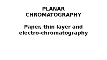 A Planar Chromatography Basic