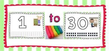 A Play Dough Mat Center Bundle Numbers 1-30