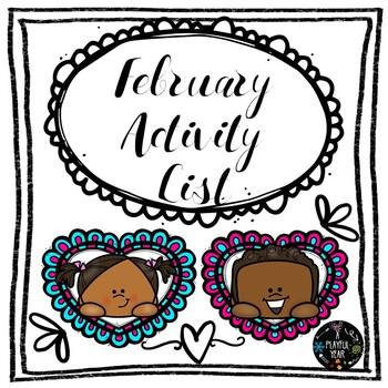 A Playful Year- February Activities List