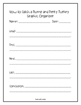 A Plump and Perky Turkey Book Companion Activities