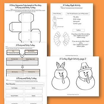 A Plump and Perky Turkey Literacy & Math Center Activities