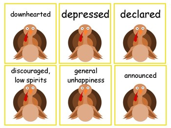 A Plump and Perky Turkey: Speech and Language Activities