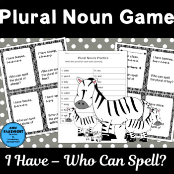A Plural Nouns Game I Have... Who Can Spell?