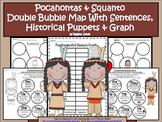 A+ Pocahontas And Squanto Double Bubble With Sentences,Puppets & Graph