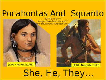 A+ Pocahontas And Squanto Easy Reader Powerpoint