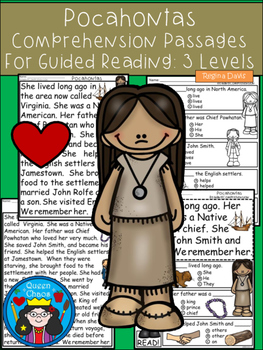 A+ Pocahontas Comprehension:Differentiated Instruction For Guided Reading