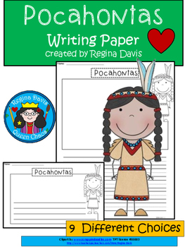 A+ Pocahontas: Differentiated Writing Paper