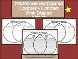 A+ Pocahontas and Squanto Venn Diagram Compare  And Contrast