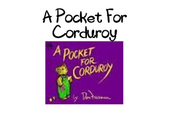 A Pocket For Corduroy - Text to Self Connection Writing Activity