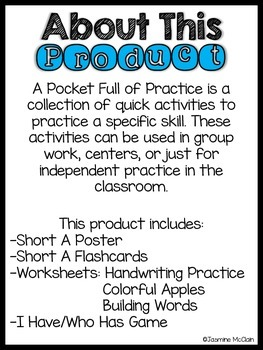A Pocket Full of Practice-Short A