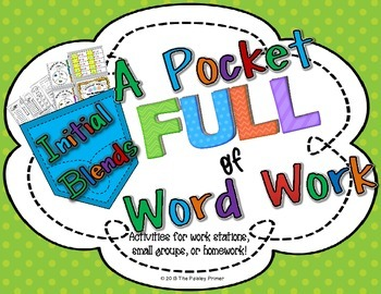 A Pocket Full of Word Work: {Initial Blends with L, R, and S}