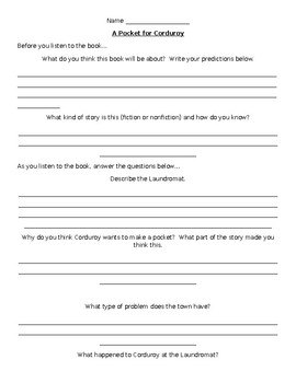 A Pocket for Corduroy Comprehension Questions