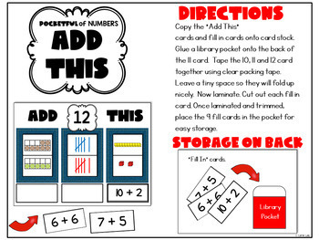 A Pocketful of Numbers ~ Numeracy Activities