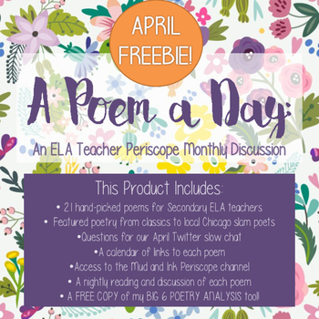 A Poem A Day: National Poetry Month FREEBIE!