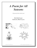 A Poem For All Seasons and Poetry Activities with Graphic Organizers