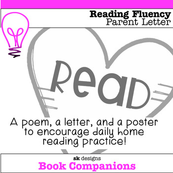Daily Home Reading Practice Parent Letter and Poster - Editable for name/minutes
