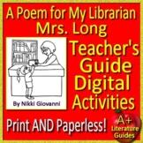 A Poem for My Librarian Mrs. Long by Nikki Giovanni - HMH SELF-GRADING GOOGLE!