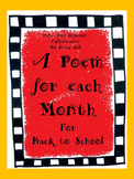 A Poem for each Month for Back to School