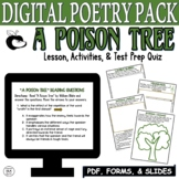 A Poison Tree by Blake: Common Core Poetry Test Prep Lesso