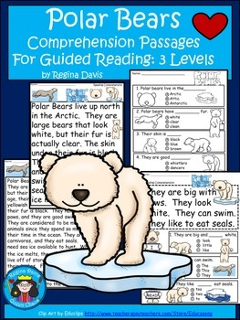 A+ Polar Bear  Comprehension: Differentiated Instruction F