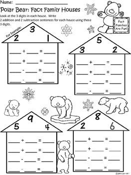 A+ Polar Bear: Fact Family Houses