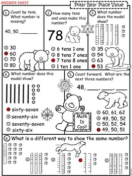A+ Polar Bear Place Value Practice