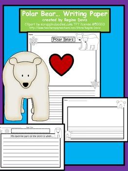A+ Polar Bear Writing Paper