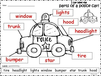 A+ Police Car Labels