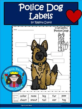A+ Police Dog Labels