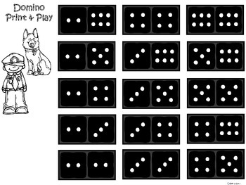 A+ Addition Police Officer: Domino Math