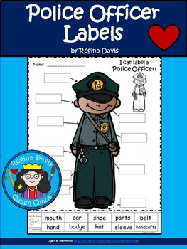 A+ Police Officer Labels (Male)