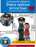 A+ Police Officers Writing Paper