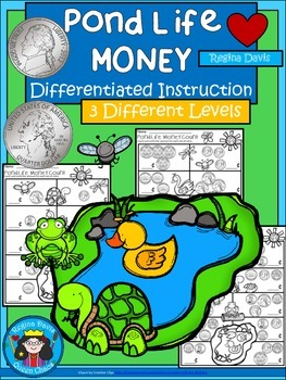 A+ Pond Life Money Math: Differentiated  Practice