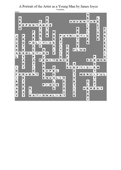 A Portrait of the Artist as a Young Man - Vocabulary Crossword Puzzle