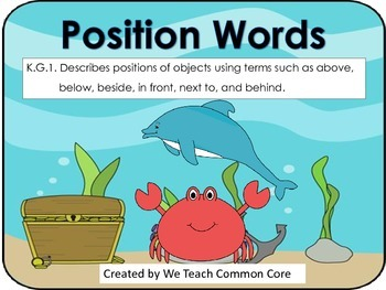 A Position Words Practice Small or Whole Group Activity fo