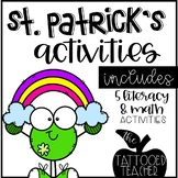 A Pot of Fun St Patrick's Day Math Writing