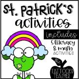 A Pot of Fun St Patrick's Day Math Writing