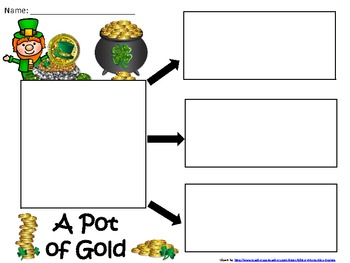 A+ Pot of Gold... Three Graphic Organizers