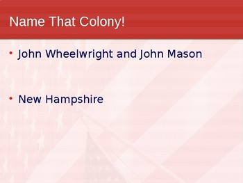 A PowerPoint Review of the 13 Colonies