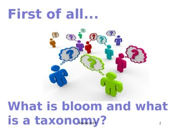 """A PowerPoint for Teaching Students How to """"Bloom"""" Revised and Original Versions"""