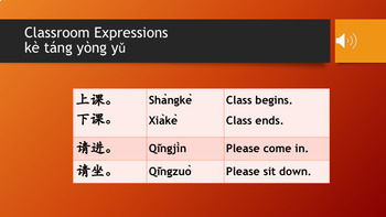 Classroom Expressions with Audio