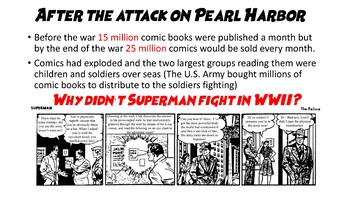A Powerpoint on the history of Racism in Comic Books