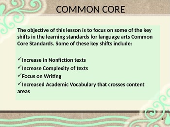 A Practical Common Core Lesson