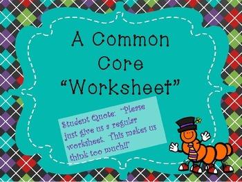 A Practical Common Core Lesson