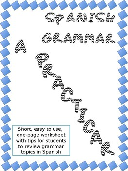 A Practicar!  Spanish Grammar Regular verbs -AR