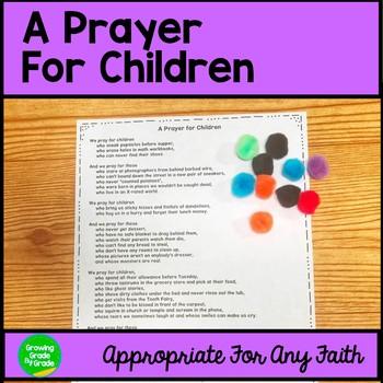 A Prayer For Children Freebie