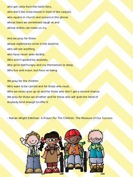 A Prayer and  Poem {FREEBIE}